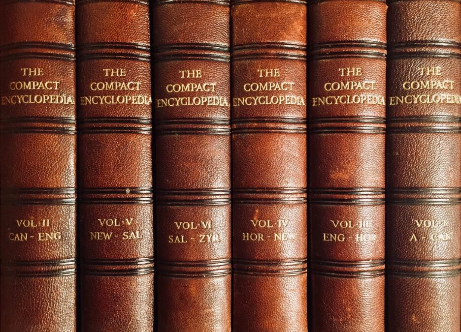 brown hardbound The Compact Encyclopedia to explain Compilations, Collective Works, and Copyrights