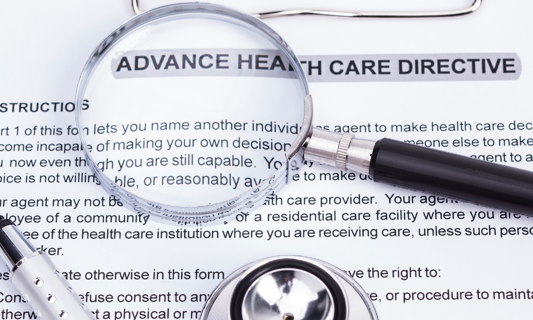 advance healthcare directive is one of many essential documents magnify glass pen stethescope tool kit